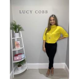Lucy Cobb Bali Box Jumper  - Yellow