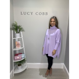 Lucy Cobb Cassie Oversized Cowl Neck - Lilac