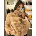 Fion Faux Fur Jacket - Blush Pink