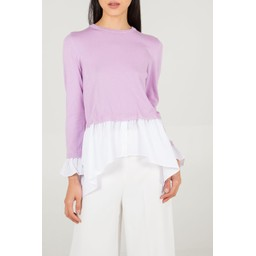 Lucy Cobb Two In One Shirt Jumper  - Lilac