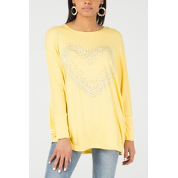Lucy Cobb Heidi Heart Oversized Top - Yellow