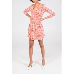 Lucy Cobb Maisie Mini Dress - Orange mix