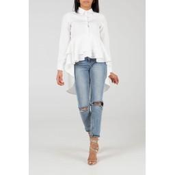 Lucy Cobb Ruth Ruffle layered Shirt - White
