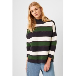 French Connection Lilaya Strip Cutout Jumper - Blue