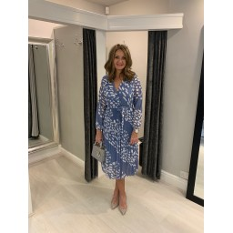 Lucy Cobb Minnie Midi Dress  in Denim Spot