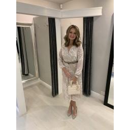 Lucy Cobb Minnie Midi Dress  - Stone Spot
