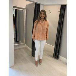 Lucy Cobb Clemmie Button Front Blouse - Orange mix