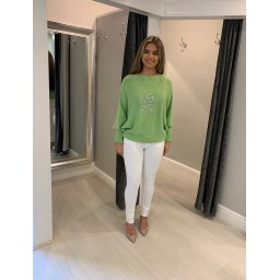 Lucy Cobb Melody Star Jumper - Lime