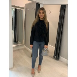 Lucy Cobb Kylie Ruffle Blouse in Black
