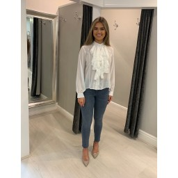 Lucy Cobb Kylie Ruffle Blouse in White