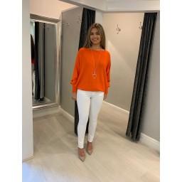 Lucy Cobb Diamante Star Back Jumper - Orange