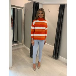 French Connection Lilaya Cutout Jumper in Orange