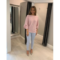Lucy Cobb Bianca Batwing Jumper - Baby Pink