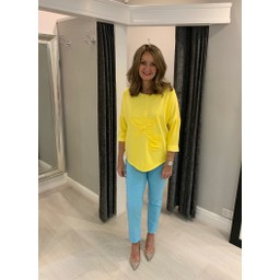 Lucy Cobb Sequin Star Jersey Top - Lemon
