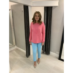 Lucy Cobb Star Jumper in Bubblegum Pink