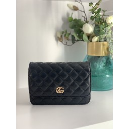 Lucy Cobb Bags Quilted Crossbody Bag in Black (90)
