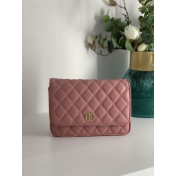 Lucy Cobb Quilted Crossbody Bag - Blush Pink