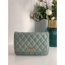 Lucy Cobb Bags Quilted Crossbody Bag in Mint