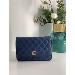 Lucy Cobb Quilted Crossbody Bag - Navy