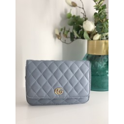 Lucy Cobb Bags Quilted Crossbody Bag in Pale Blue (611)