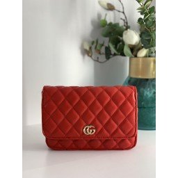 Lucy Cobb Quilted Crossbody Bag - Red