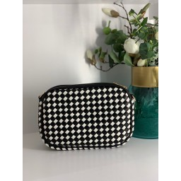Lucy Cobb Bags Platted Camera Bag in Black & White