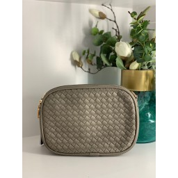 Lucy Cobb Platted Crossbody Bag - Grey