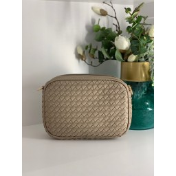 Lucy Cobb Platted Crossbody Bag - Sand