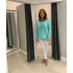 Lucy Cobb Star Jumper in Mint