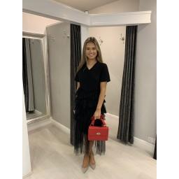Lucy Cobb Lara Layered T-Shirt Dress  - Black (90)