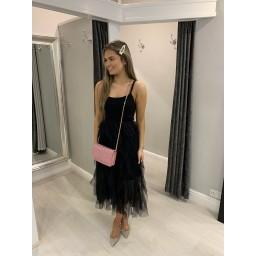 Lucy Cobb Organza Skirt Midi Dress - Black (90)
