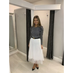 Lucy Cobb Nadia Net Skirt in White