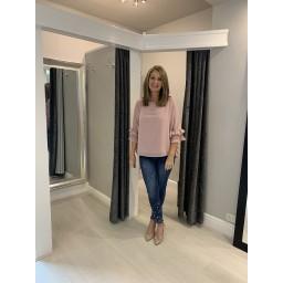 Lucy Cobb Faye Frill Blouse - Blush Pink