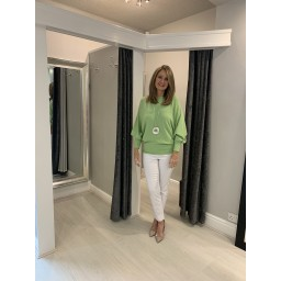Lucy Cobb Bianca Batwing Jumper in Lime(810)