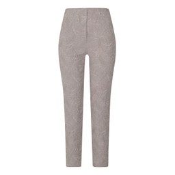 Robell Trousers Bella 09 Jacquard Trousers in Light Taupe