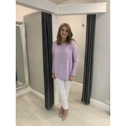 Lucy Cobb Star Jumper in Lilac