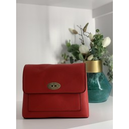 Lucy Cobb Bags Square Crossbody Bag in Red