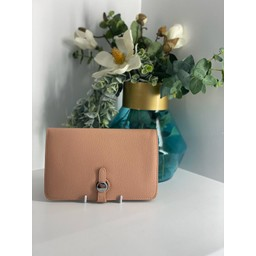 Lucy Cobb Bags Travel Wallet with Purse in Blush Pink