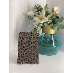 Malissa J Mobile Phone Bling Bag in Gold Animal Print