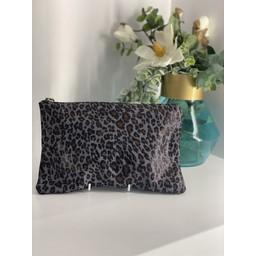 Malissa J Leather Zip Wallet in Leopard Print