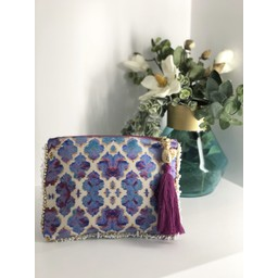Sophia Alexia Clutch Bag in Orchid Paradise