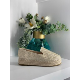 Lucy Cobb Chunky Espadrilles - Stone