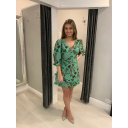 Glamorous Leopard Belted Mini Dress - Green