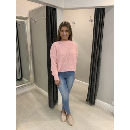 Glamorous Knitted Round Neck Jumper - Pink (431)