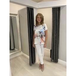 Fransa FRhimixflower 1 T-Shirt in White