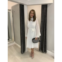 Lucy Cobb Angel Midi Dress in White
