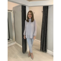 Lucy Cobb Clemmie Top - Silver Mix