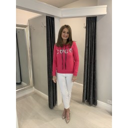 Lucy Cobb Coco Sparkle Hoodie in Fuchsia