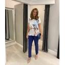 Marie Petite/ Shorter Length Trousers - Denim Blue - Alternative 4