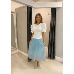 Lucy Cobb Phoebe Puff Sleeve T-Shirt - White